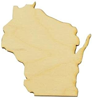 wisconsin state wood cut out