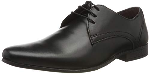 Burton Menswear London Herren Sampson Oxfords, Schwarz (Black 130), 40 EU