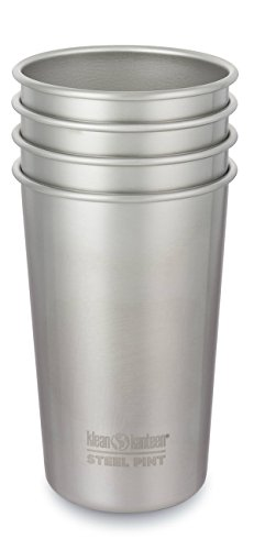 Klean Kanteen Vaso Acero Pack 16oz, Adultos Unisex, Plateado, 127.4 mm h x 88.9 mm w