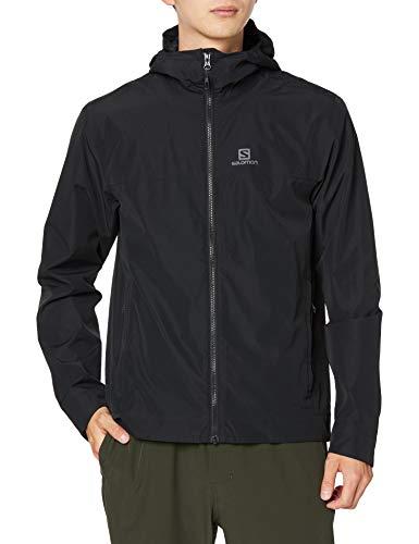 Salomon Regenjacke für Herren, EXPLORE WP JKT M, Polyester, schwarz, Größe: L, LC1267600