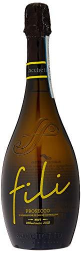 Sacchetto Fili Prosecco DOC Vino Spumante di Qualita del Tipo Aromatico Extra Dry (6 x 0.75 l)