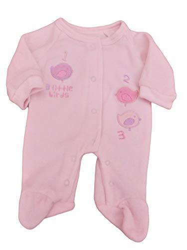 Tiny Baby BNWT Grenouillère pour bébé prématuré Motif Petit Oiseau - Rose - S