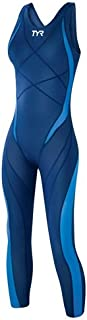 TYR Championship Suits Tyr Tracer Light Aeroback Full Body Tech Suit, Navy, 24