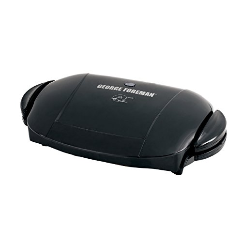 George Foreman 5-Serving Removable Plate Electric Indoor Grill and Panini Press, Black, GRP0004B (Renewed)