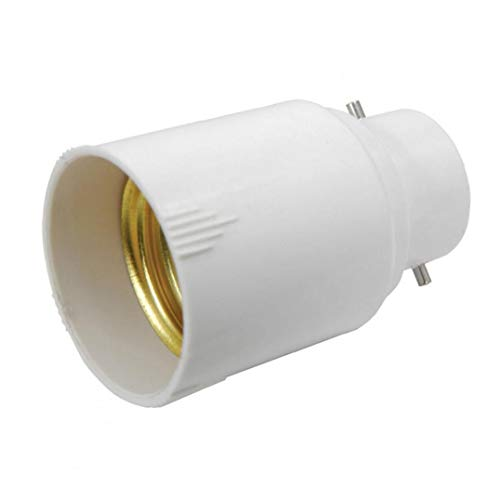 NaisiCore Titular de la lámpara de luz E27 Tornillo del Soporte Colgante del Bulbo del zócalo Blanco Color de la lámpara Light Socket Converter 401.090 Bayoneta B22-E27