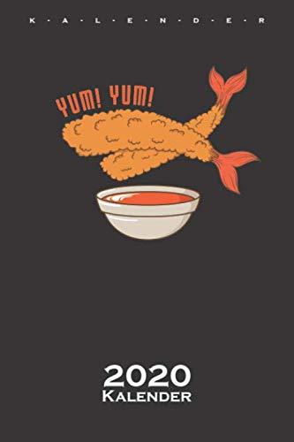 fritierte Shrimps Kalender 2020: Jahreskalender für Feinschmecker und Fans der asiatischen Küche