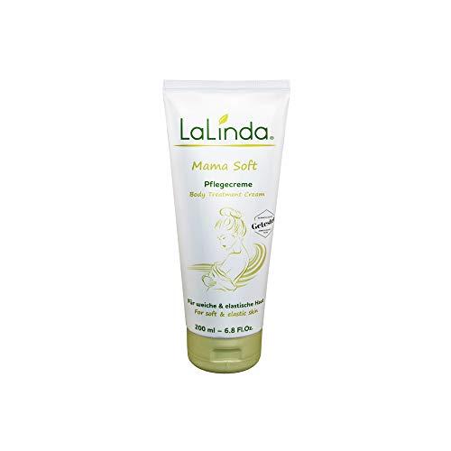 LaLinda - Mama Soft Creme gegen Dehnungsstreifen in der Schwangerschaft von Hebammen empfohlen hochwirksame Pflanzenstoffe 200ml