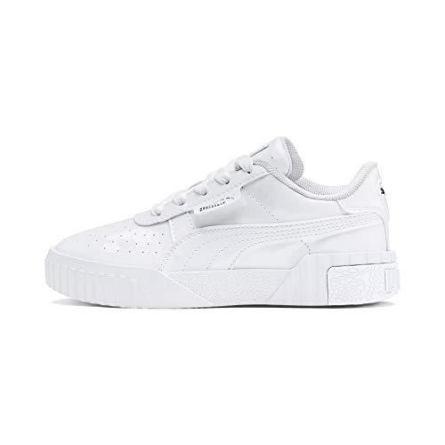 PUMA Cali Patent Kids Sneaker Puma White-Puma White UK 12_Youth_FR 31