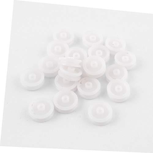 X-DREE 20 pezzi in plastica bianca 0,5' 'diametro modello meccanico puleggia(20 piezas de plástico blanco 0.5' 'diámetro modelo de polea de correa de Machanical