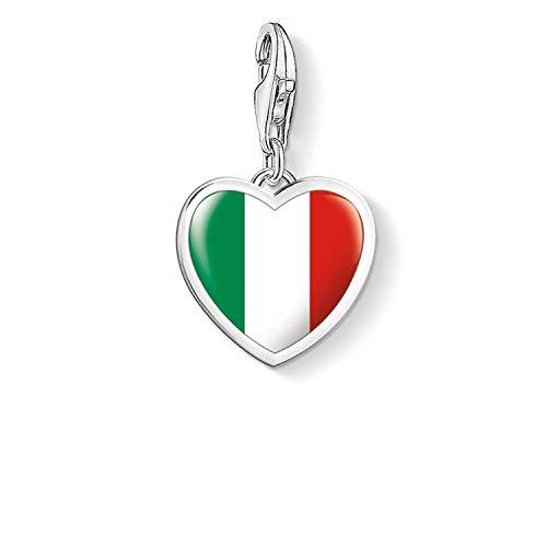 Thomas Sabo Charm Club Herz Flagge Italien Charm Anhänger 925 Sterlingsilber