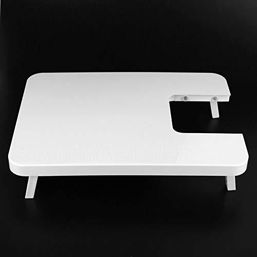 Changor Tabla de extensión, accesorio para máquina de coser de dos hilos portátil plegable base de mesa de plástico hecho