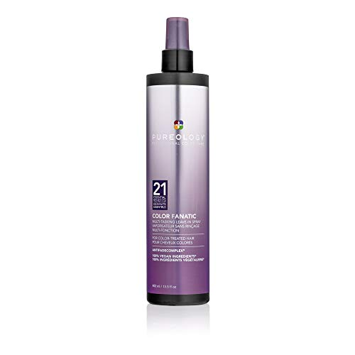 Pureology Color Fanatic Leave-in Conditioner Hair Treatment Detangling Spray   Protects Hair Color From Fading   Heat Protectant   Vegan