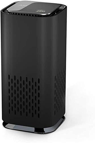 Luftreiniger Auto Allergie HEPA Filter Lonisator, LED Negativ Aktivkohlefilter 99,97% Filterleistung USB für Wohnung Rauch Pollen Haustierallergene Allergiker Raucherzimmer Asthmatiker (Schwarz)