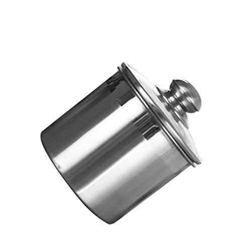 Lurrose Recipientes de Acero Inoxidable con Tapa de Vidrio 1000Ml Té Café Granos Azúcar Tarros Sellados Alimentos Secos Refrigerios Tanque de Almacenamiento Contenedor Sellado para