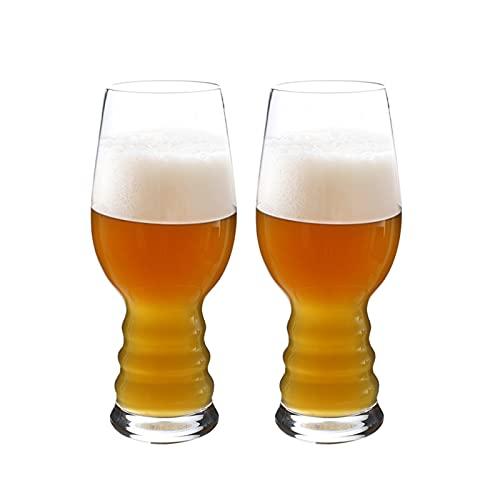 DONGTAISHANGCHENG Jarras de Cerveza Taza de Cerveza Gafas Gafas Cerveza Embarcaciones Juego de Utensilios de Agua de 2 - Alto Cristalería para la Cerveza Batidos de Frutas de Vino Café Helado - 17 oz