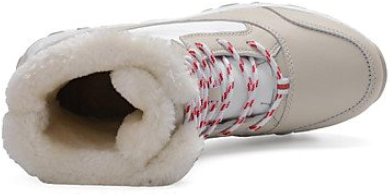 Women Snow Leatherette Outdoor Flat Heel Lace-up More color Walking EU36-39