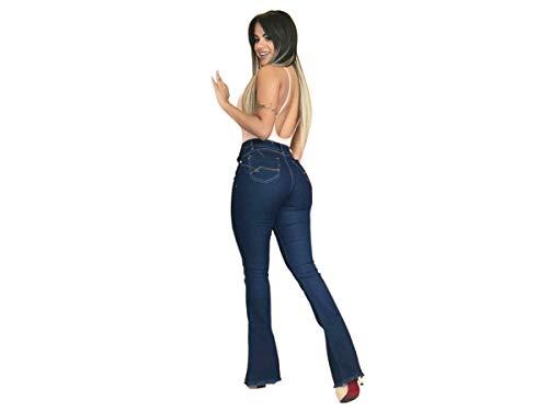 Calça Jeans Flare Feminina Amaciada Boca De Sino (42)