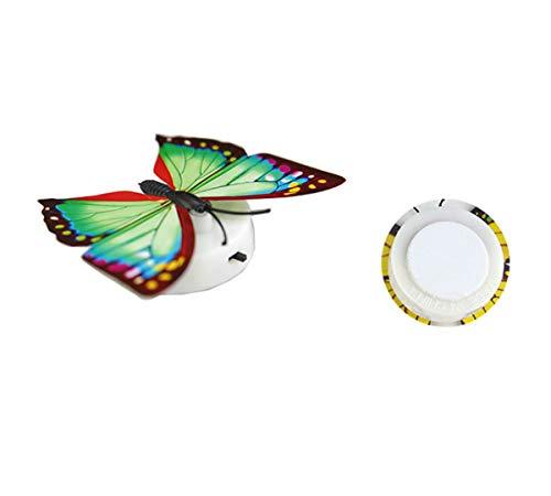 zycShang Coloré Papillon LED Petit La nuit Lumière La famille Intérieur Fête Mur de table Décoration (Coloré)