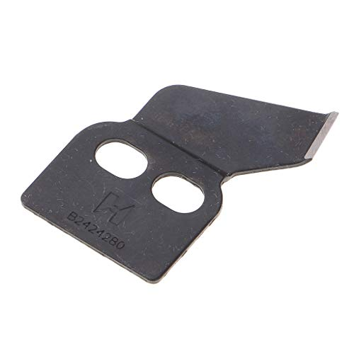 Fenteer Cuchillo Móvil B2421-280-0A0 Cuchillo Fijo B2424-280-000 para Juki Industrial DIY - Cuchillo Contador Fijo Negro, Individual