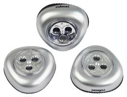 Rolson Tools 61761 Lot de 3 lumières à 3 Led à coller, 3 pièces
