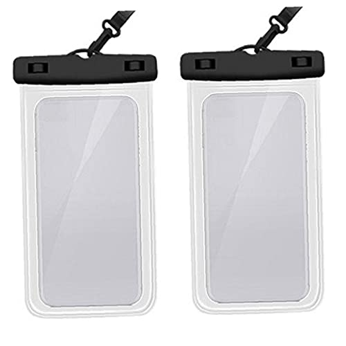 Funda Impermeable 2 Paquete, Bolsa De Teléfono a Prueba De Agua Bolsa Seca Para Iphone 11 Pro Max Xs Max Xr Xs X 8 7 6s 6 Plus Samsung S20 S10e S9 S8 Huawei P30 Pro 20 Pro, Hasta 6,6 Pulgadas