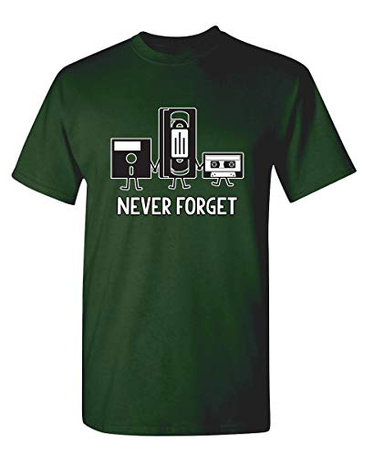 Never Forget Graphic Novelty Sarcastic Funny T Shirt L Forest