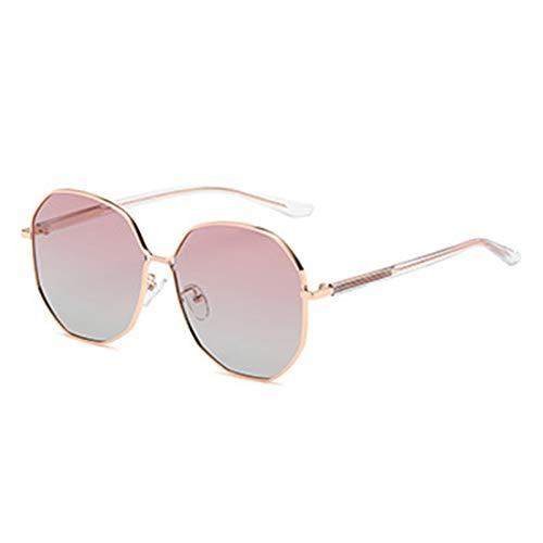 HDSJJD Gafas De Sol Polarizadas Irregulares De La Moda De Las Señoras Gafas De Sol Multifuncionales De Protección UV400 para Conducir Viajes,D