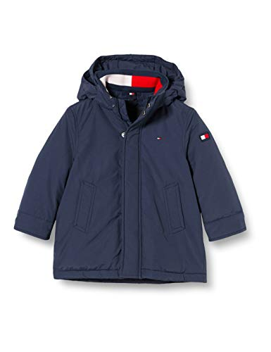 Tommy Hilfiger Essential Padded Parka Giacca, Twilight Navy, 10 Bambino