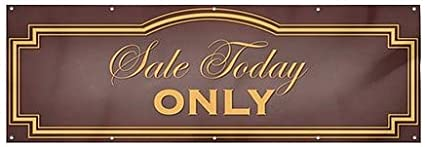 12x4 CGSignLab Classic Brown Wind-Resistant Outdoor Mesh Vinyl Banner Sale Today Only