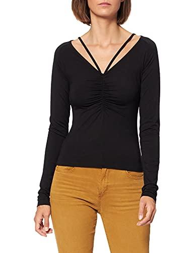 NA-KD Neck Detail Top Camisa, Negro, L para Mujer
