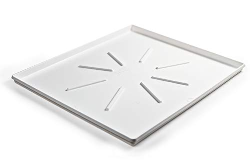 """Camco Front-Load Washing Machine Drain Pan, Protects Your Floor from Washing Machine Leaks, OD 30.5"""" x 34.5"""" x 1.64"""" (20786), White"""