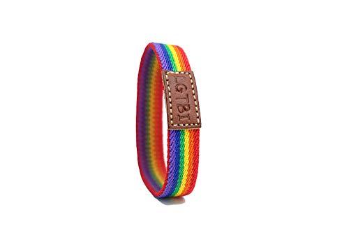 QUICKBOXX Pulsera Orgullo Gay Lesbiana LGTBI Pride Elástica con Colores del Arco Iris Cómoda y Estilosa Unisex