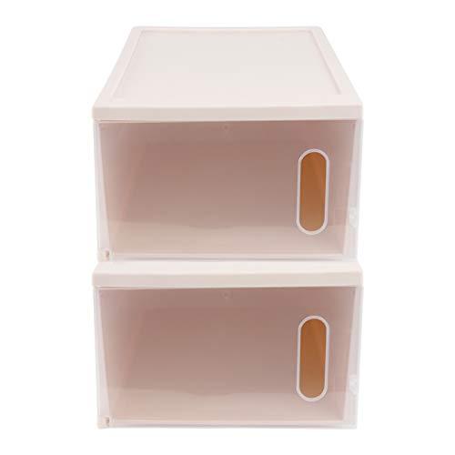 Cabilock 2Pcs Étui à Chaussures en Plastique Boîtes à Chaussures Simples Conteneur de Stockage de Chaussures Empilable pour Enfants Adultes