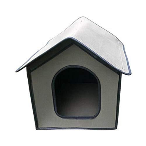 knowledgi Casetta per Gatto, Cuccia per Cani, Impermeabile Casetta Gatto, Cuccia per Cani Impermeabile, Casa per Animali Domestici Resistente alle Intemperie, Rifugio per Animali Domestici, Pet Villa