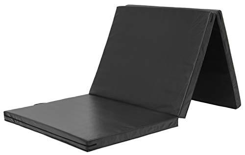 KaRaDaStyle 体操 マット ヨガ トレーニング 折りたたみ 防音 プレイマット スポーツマット 180×80×5cm (ブラック)