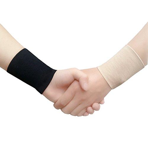 Handgelenkbandage, 2 Stück, medizinische Sport-Bänder, atmungsaktiv, Schutz vor Verletzungen, Handgelenkschoner (schwarz) – Größe XL
