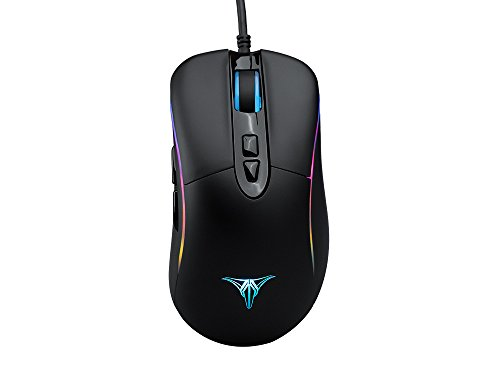 ZD Talentech Ember [10,000 DPI] Ergonomic USB Wired RGB Gaming Mouse Mice for PC/Laptop(Windows 10/8/7/XP), Linux, 7 Programmable Buttons, PMW3325 Sensor, MMO/MOBA/FPS - [Black]