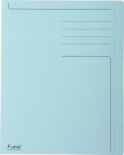 Exacompta 441006E - pack de 100 Carpetas (cartón reciclado 280 g, A4, zona de rotulación), Azul