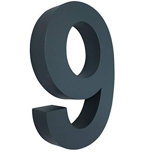 9 Hausnummer 3D anthrazit RAL7016 Edelstahl V2A rostfrei wetterfest Höhe 20cm inkl. Montagematerial erhältlich 0 1 2 3 4 5 6 7 8 9 a b c d