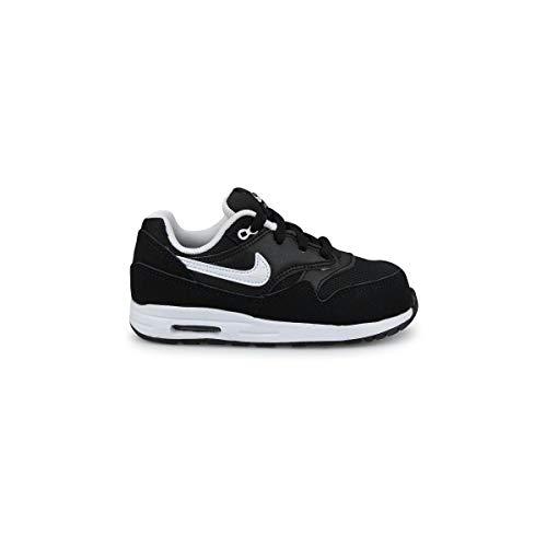 Nike AIR Max 1 (TD), Chaussures pour Nouveau-né Mixte bébé, Noir Blanc Negro Black White 001, 22 EU