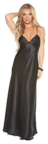 Shirley of Hollywood Sexy Lange Spitze mit Criss Cross Back Kleid in Schwarz Blau Rot Weiß Large Medium XL