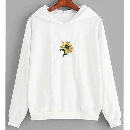 Blusa Agasalho Moletom Canguru Girassol Lançamento Unissex Oferta (M, Branco)