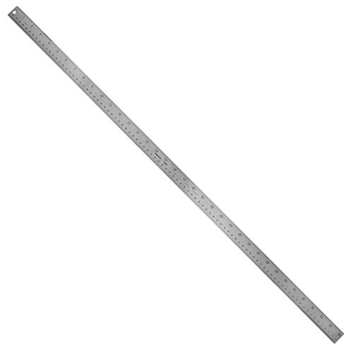 Stainless Steel 36 Inch Metal Ruler Non-Slip Rubber Back, with Inch and Metric Graduations