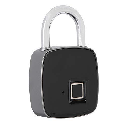 Fingerprint Lock Fingerdruck Vorhängeschloss,ASHATA Smart Biometrischer Vorhängeschloß Fingerabdruckerkennung Keyless Wasserdichte Anti-Diebstahl Lock Vorhängeschloss für Haustür Rucksack Koffer usw.