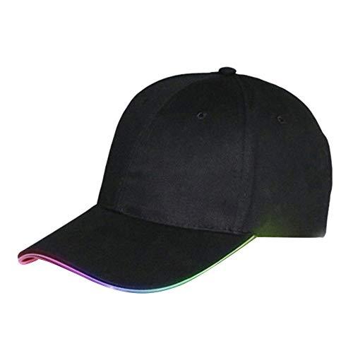 TXCY Gorra de béisbol Luminosa LED súper Brillante de Moda celebración navideña Etapa-Luz Colorida A