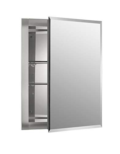 Kohler K-Cb-Clr1620Fs Frameless 16 Inch X 20 Inch Aluminum Bathroom Medicine Cabinet; Recess Installation Only (Surface Mount Medicine Cabinet With Mirror And Lights)