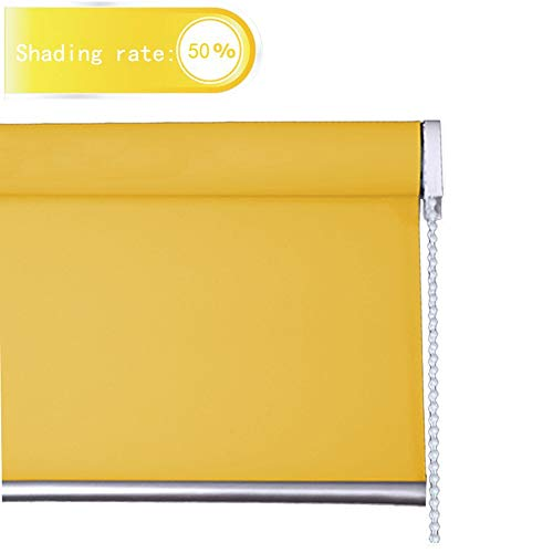 Estor Enrollable Horizontal Luz De La Ventana De Filtrado Plisados apagón Persiana Protección UV Persianas For La Cocina, Amarillo Personalizable Chenhz (Color : Yellow, Size : 105x150cm)
