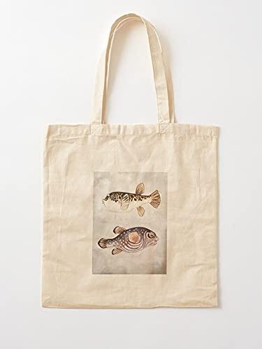 Générique Stars Porcupine Ocean and Puffer Aquarium Stripes Blow Salt Fish Water | Sacs d'épicerie de Toile Sacs fourre-Tout avec poignées Sacs à provisions en Coton Durable