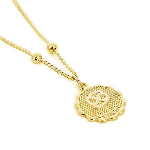 NA Halskette Sternzeichen Sternzeichen Gold Runde Anhänger Halskette Hip Hop Punk Halskette Charm Schmuck Geschenk