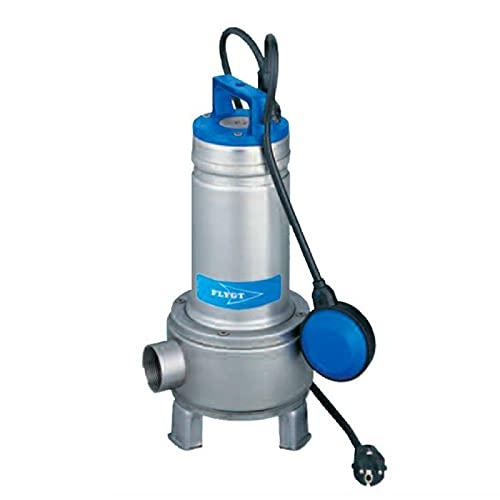 Flygt - Bomba de elevación Delinox DXVM355 0,55 kW agua usada con rueda Vortex hasta 19,2 m3/h monofásica 220 V